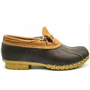 L.L. Bean Mens Bean Duck Boots Low Top Waterproof